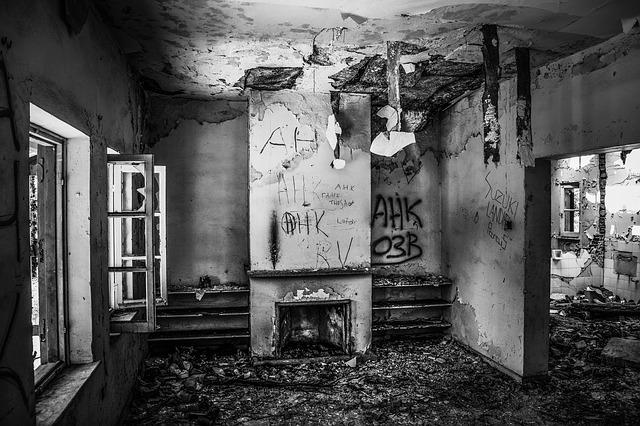 zničený pokoj